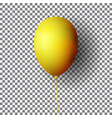 realistic yellow balloon isolated on transparent vector image vector image