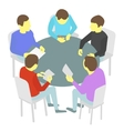 Round-table talks Group of business Five people vector image vector image