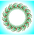 round wreath of berries and branches with leaves vector image vector image