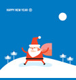 santa claus and bag with presents gifts merry vector image