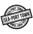 Sea-port town rubber stamp vector image