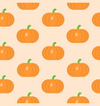 seamless pattern with pumpkin in flat style vector image