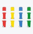 Set of wheelie bin isolated on white background vector image