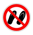 Sign no sandals 1904 vector image