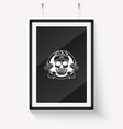 sketch angry sport skull with dumbbells vector image vector image