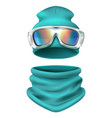 ski suit composition vector image vector image