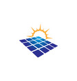 Solar panel icon design template isolated