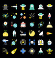 space exploration icon set flat design vector image