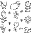 spring doodles vector image vector image
