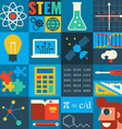 stem education vector image