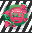 summer big sale poster with watermelon vector image