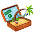 summer element in suitcase vector image vector image