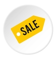 Tag sale icon flat style vector image