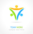 Team work design template Creative social network
