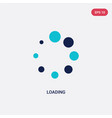 two color loading icon from ui concept isolated vector image