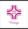vintage ornamental logo vector image