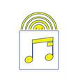 vinyl record in envelope icon vector image vector image