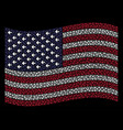 waving united states flag stylization of arrow vector image vector image