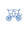 wedding carriage line icon concept wedding vector image vector image