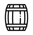wooden barrel icon outline vector image vector image
