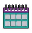 calendar planner date template for week vector image