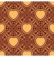 Seamless texture with heart vector image