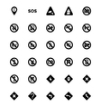 Warning Icons 3 vector image
