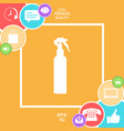 spray bottle silhouette vector image