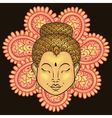 artistically colorful Portrait of Buddha isolated vector image