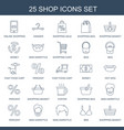 25 shop icons vector image vector image