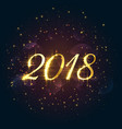 beautiful 2018 sparkles new year background vector image vector image