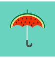 Big watermelon slice cut with seed Umbrella shape vector image vector image