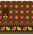 bird floral wrapping vector image