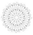 black and white circular round easter spring vector image vector image