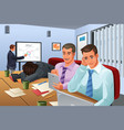 boring business meeting vector image vector image