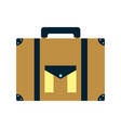 briefcase journey travel tourist object vector image vector image