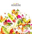 Brochure header layout vector image vector image