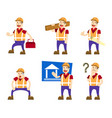 building builder collection set vector image