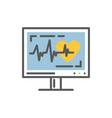 cardiogram on a monitorekg vector image