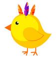 cartoon chicken chick icon poster vector image vector image