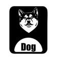 chinese calendar animal monochrome logotype dog vector image