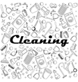 Cleaning coloring book vector image vector image