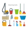 Cleaning Tools Isolated House Washing Equipment vector image