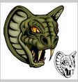 cobra head mascot - vector image vector image