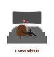 coffee lovers Coffee beansc Places for kisses on vector image vector image