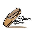 Color vintage dance studio emblem vector image