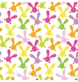 colorful seamless pattern with easter bunny vector image vector image