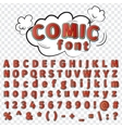 comics style alphabet vector image vector image