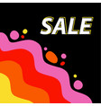 discounted sale bright background for the vector image vector image