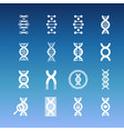 dna spiral icons - medicinal and biology vector image vector image